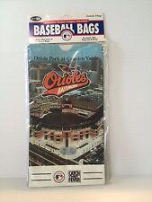 BALTIMORE ORIOLES MLB paper lunch bag, Orioles Souvenir,Smokey the Bear bag