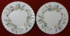 ROYAL ALBERT china BRIGADOON pattern Set of Two (2) Bread Plates - 6-1/4""