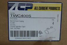 """*LOT OF 4* 4"""" STEEL SET SCREW COUPLING FOR EMT IMC & RIGID 4 INCH STEEL ZINC NEW"""