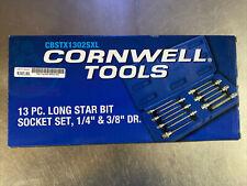 Cornwell Cbstx1302sxl 13 Piece 14 Amp 38 Drive Long Star Bit Socket Set