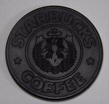 VINTAGE 1988 STARBUCKS COFFEE SIREN FULL SPLIT TAIL BLACK RUBBER COASTER UMBRA