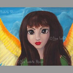 Angel Fairy ART Big Eye Fantasy Latina Surreal Lowbrow Fae Print Lisabella Russo
