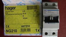 DISJONCTEUR  2P D10 10A HAGER  NG210   MCCB