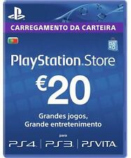 PlayStation Network 20 EUR PSN CARD PT PORTUGAL for/para PS3 PS4 PSVITA NOV
