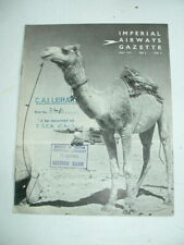 ORIGINAL 1937 IMPERIAL AIRWAYS GAZETTE NEWSLETTER 8 page booklet