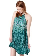 O'neill *NWOT Women's Tamera Printed Sleeveless Halter Dress in Pacific ~ XSMALL
