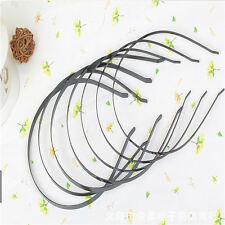 Fashion 5pcs Metal Black Hair Headband Metal Iron Material Blank Plain Design