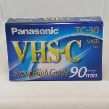 Panasonic VHS-C Super High Grade TC-30 90 Minute Tape