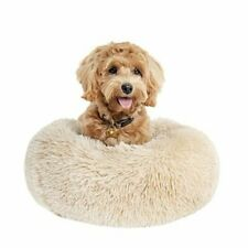 Small Dog Bed Calming Dogs Bed for Small Medium Large Small (Pack of 1) Beige