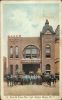 East St. Louis IL Fire Dept c1910 Postcard