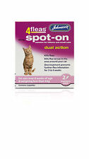 Johnson's 4 Flea Spot-on for Cats Dual Action for cats under 4kg