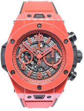 Hublot Unico Red Ceramic Chronograph Watch Limited 500 Box/Papers 411.CF.8513.RX
