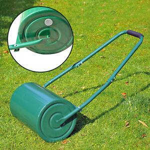 Outdoor Garden Lawn roller Heavy Duty Rolling Grass Roller Handle Perfect Lawns