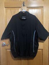 Dryjoys by Footjoy Short Sleeve Pullover 1/2 Zip Snap Golf Rain Wind Jacket XL
