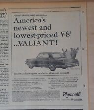 1964 newspaper ad for Plymouth - Valiant Signet, newest & lowest priced V-8