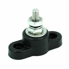 "Terminal Block w/Stainless Steel 3/8"" stud / Black"