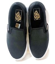New listing Vans Women's Size 6.5 Asher Perforated Black Leather Slip On Shoes