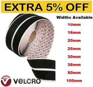 VELCRO® GENUINE BRAND PS14 SELF ADHESIVE STICK ON TAPE HOOK & LOOP STRIPS - DIY