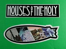 LOT 2PCS LED ZEPPELIN NAME HOUSE OF THE HOLY AIRCRAFT BALE CRAWL MUSIC STICKER
