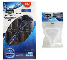 Schick Hydro Premium 5 1 Razor Handle + 9 Cartridges Refills + Travel Cover