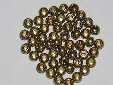 50 x BRASS BEADS 6mm  Fly Tying Materials Metal Beads Very Heavy