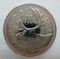 1970 CANADA 25 CENTS PROOF-LIKE QUARTER COIN