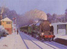 Lord Nelson Class 853 Southern Railway Engine Steam Train Christmas Xmas Card