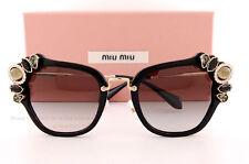 Brand New Miu Miu Sunglasses MU 03SS 1AB 0A7  Black/Gold/Brown Gradient Women
