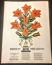 Original Vintage Regalo-o El Lirio-o cartel Rey Billy William de Naranja Belfast