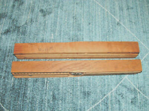 2 SLIDING WOODEN TABLE EXTENSIONS - 1950'S - WALTER OF WABASH