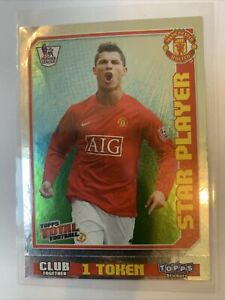 Topps Total Football 2009 Premier League Cristiano Ronaldo Star Player Sticker