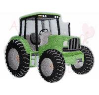 XL Traktor in grün Aufbügler Aufnäher Bügelbild Patch Trekker Tractor john