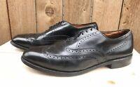 Allen Edmonds Chester Men's Black Wingtip Brogue Oxford Shoes Size US 10.5 B