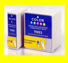 2 x cartucho compatible reemplaza Epson Stylus Photo 700 750 ex * t053 t050
