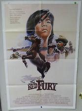 Original Vintage The Red Fury Movie Poster - William Jordan - 1984