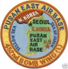 USAF BASE PATCH, PUSAN EAST K-9, SOUTH KOREA, CLOSED