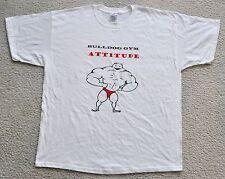 Bulldog Gym Attitude Logo Bodybuilding Workout Muscle T-Shirt Sz XL New