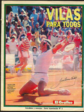 TENNIS GUILLERMO VILAS Special Magazine 12 Pages # 1