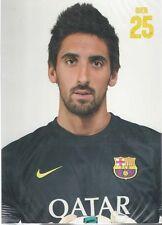 Postal postcard 25 Oier  jug. FC BARCELONA 13/14