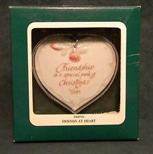 1991 Summit Carlton Friendship Ornament Friends At Heart Nib
