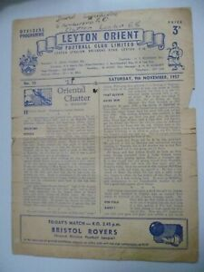 1957 Leyton Orient v Bristol Rovers 9th November