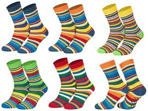 Kinder Socken Stoppersocken ABS 6 Paar Jungen oder Mädchen Damen Ringel Bunt
