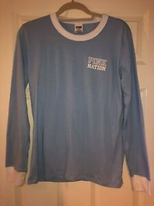 EXCLUSIVE Victoria's Secret PINK Nation Blue Ringer Tee - Size M - Worn Once
