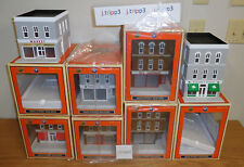 LIONEL 7 CITY STORE BUILDINGS O SCALE TRAIN ACCESSORY LOT BAKERY HARDWARE MARKET