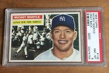 1956 TOPPS Mickey Mantle #135 NM-MT PSA 8 Gray Back CENTERED