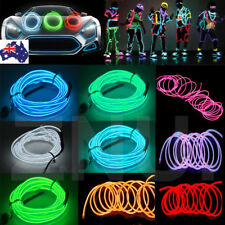 1/2/3/4/35M Flexible LED Neon Light Glow EL Strip Tube Wire Rope Battery Party