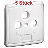 Abdeckung Deckel für TV Sat LNB Radio Antenne Antennendose Box mit 3 fach weiß