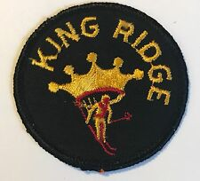 KING RIDGE Lost Ski Area 1961-95 Skiing Patch NEW HAMPSHIRE NH Resort Travel