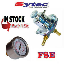 FSE Ajustable combustible regulador de presión 1-5 Bar Plata & Gauge Sytec sar001