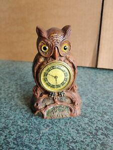 VINTAGE WATERBURY OWL CLOCK